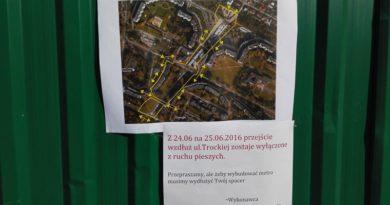 Budowa metra: zamykają piesze przejście przez Trocką