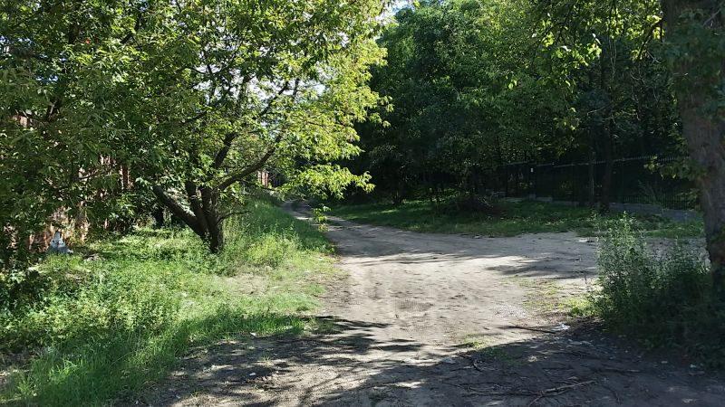 Między cmentarzami prowadzi zaniedbana droga / fot. targowek.info