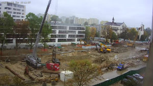 Kamera - budowa metra na Targówku