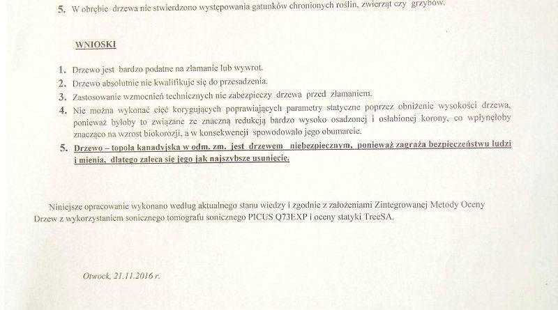 Fragment opinii rzeczoznawcy / fot. Facebook/ UD Targówek
