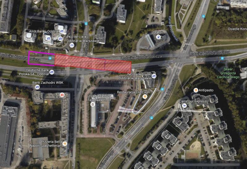Nowe położenie stacji Bródno (C21) / fot. Metro Warszawskie, Google Earth, targowek.info